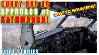 RNP AR Approach at Kathmandu Tribhuvan Airport