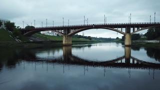 Вечерняя река Двина в Витебске