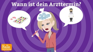 """Deutsch lernen mit Dialogen / Lektion 8 / Wie oft machst du Sport? / Aussprache """"ie"""" und """"ei"""""""