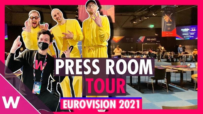Eurovision 2021 Press Centre tour Rotterdam Ahoy Vlog