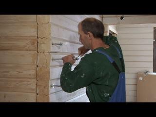 Стяжка бруса и заделка трещин герметиком // FORUMHOUSE