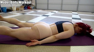 Yoga - Locust Pose (Salabhasana) - Model Body Workout