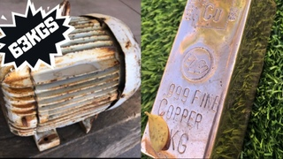 63 Kilo Motor Stripped for Copper Melt - Huge Copper Bar - Molten Metal