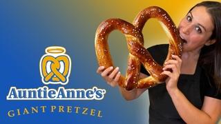 GIANT Pretzel 🥨 Auntie Anne's VS German Bavarian