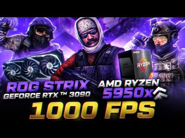 CS GO Benchmark FPS Amd Ryzen 9 5950X RTX 3090 360 Hz 1080p Maks Düşük Ayarlar