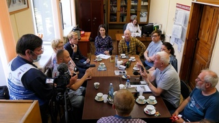 Встреча представителей Русского географического общества В Госархиве.