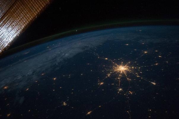 Вот так из космоса выглядит Москва. Уровень освещё...