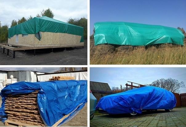 Крепкие тенты для защиты сена, стройматериала, маш...
