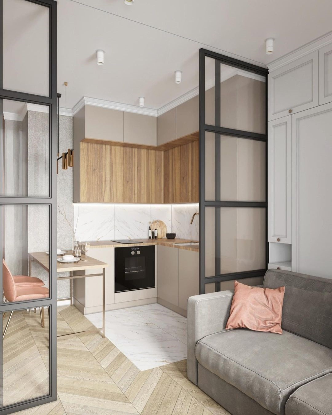 Проект квартиры-студии 24 кв.