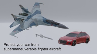 Is Your Car Safe From Supermaneuverable Air-Defense Fighter Aircraft?