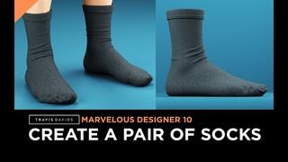 Marvelous Designer 10 - How To Create A Pair Of Socks