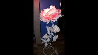 торшер своими руками. торшер из изолона . роза торшер. роза распустившаяся из изолона. Часть1