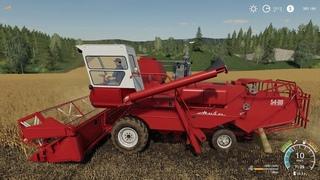 Зерноуборочный комбайн СК-5 «Нива» Мой первый опыт в роли комбайнера в игре Farming Simulator 2019