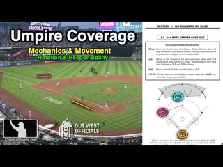 Umpire Mechanics on Hit to Outfield with Bases Empty - Seattle Spotlights Hamari, Johnson & Tumpane