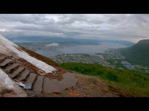 Descent from Floya Fløya Tromssa Norway