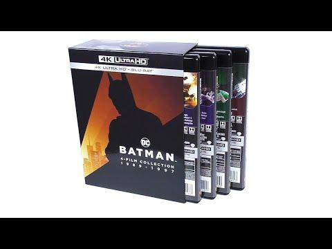 4K Ultra HD Blu ray Бэтмен 4 фильма 1989 1997 Italy