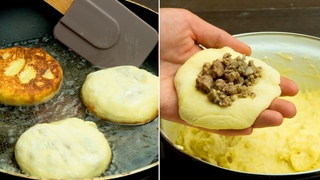 Вроде очень просто, но как же вкусно получается! Картофельные котлеты с сюрпризом! |