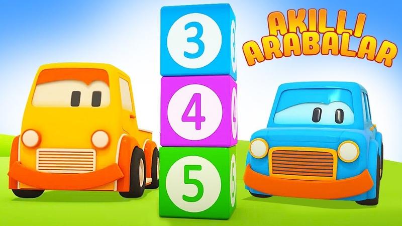Çizgi film Akıllı arabalar Küpleri bulalım ve sayıları öğrenelim Çocuklar için